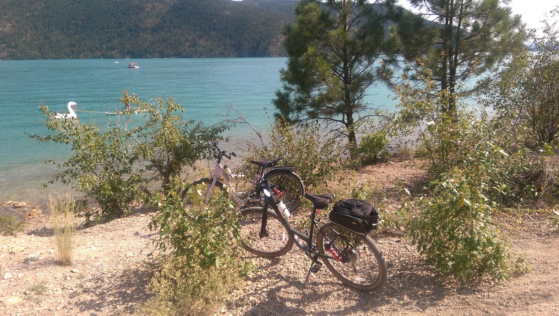 Bikes by the lake