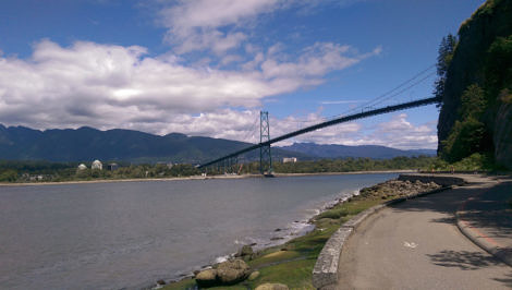 Lions Gate Bridge from the seawall