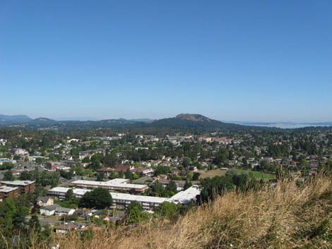 Mount Douglas from Mt Tolmie