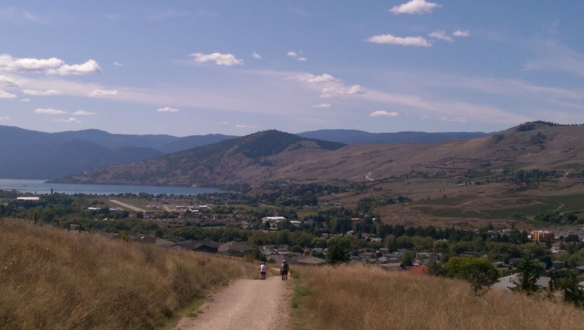 Mountain Biking above Okanagan Landing Vernon