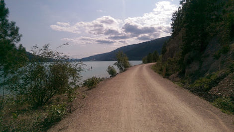 Okanagan Rail Trail by Kalamaka Lake
