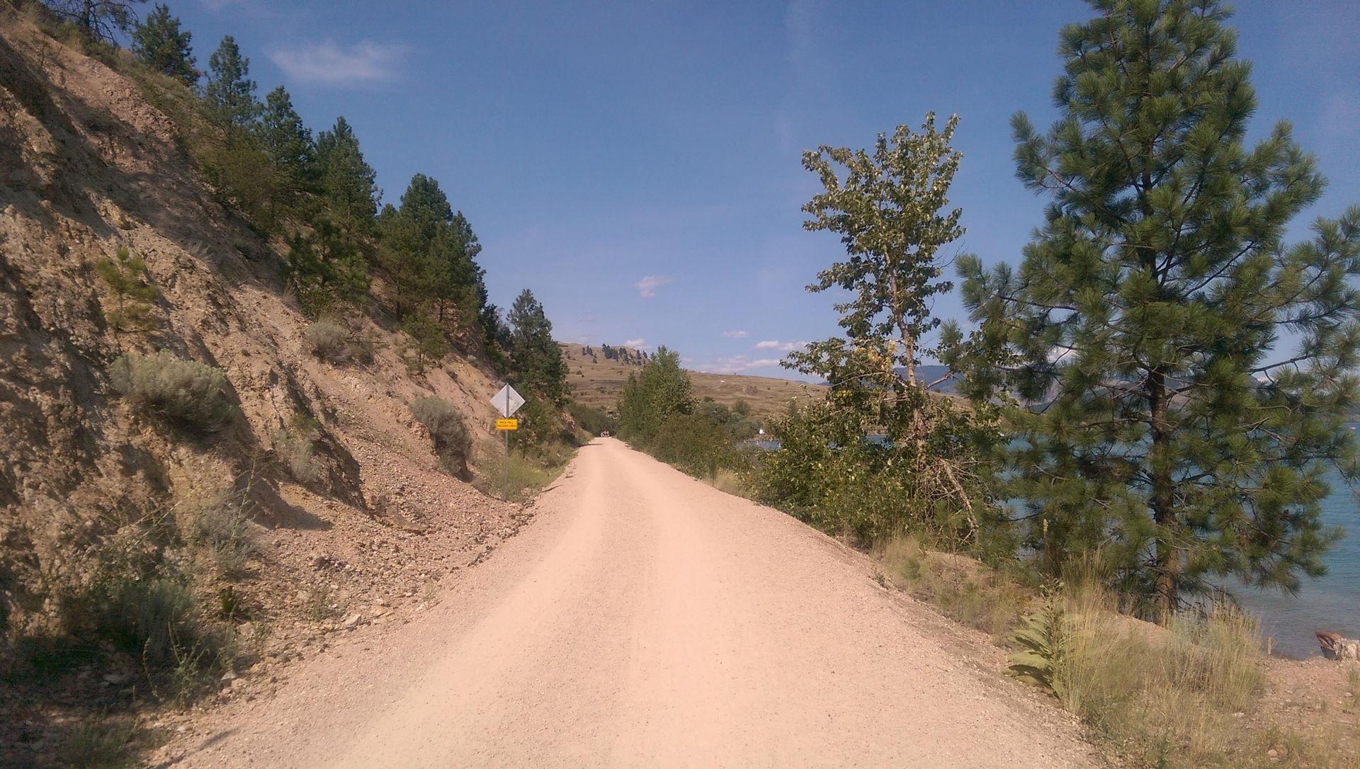 Okanagan Rail Trail by Kalamaka Lake