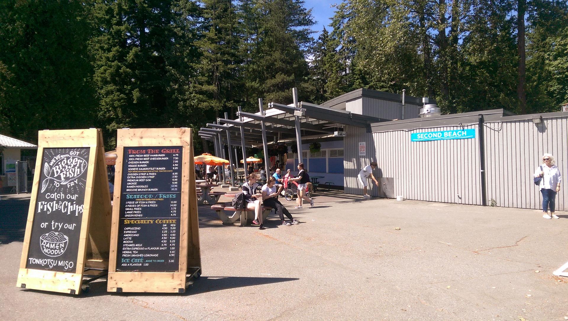 Outdoor concession Stanley Park