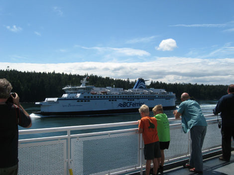 Passing BC Ferries in Active Pass