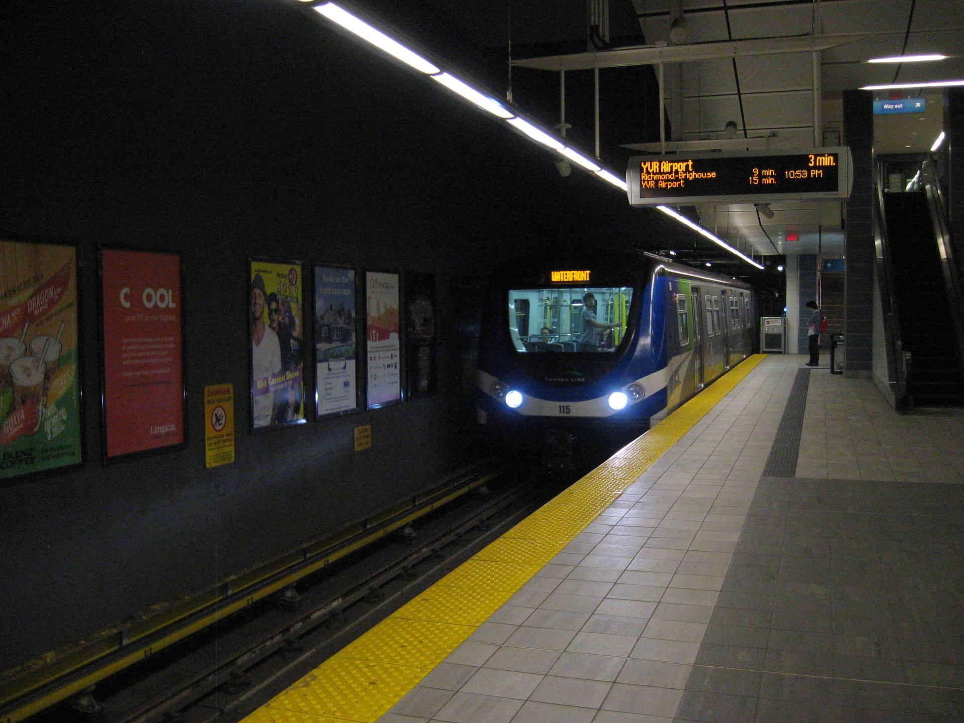 Vancouver Canada Line subway train