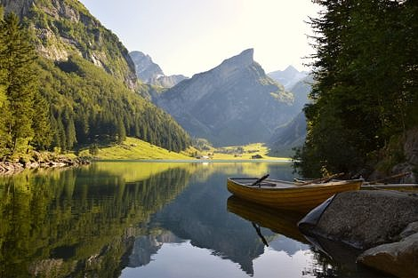 Alpine Lake in Switzerland