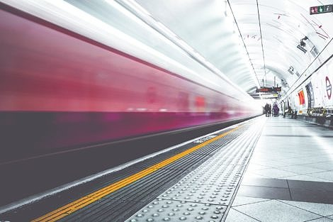 Blurred London Underground Train