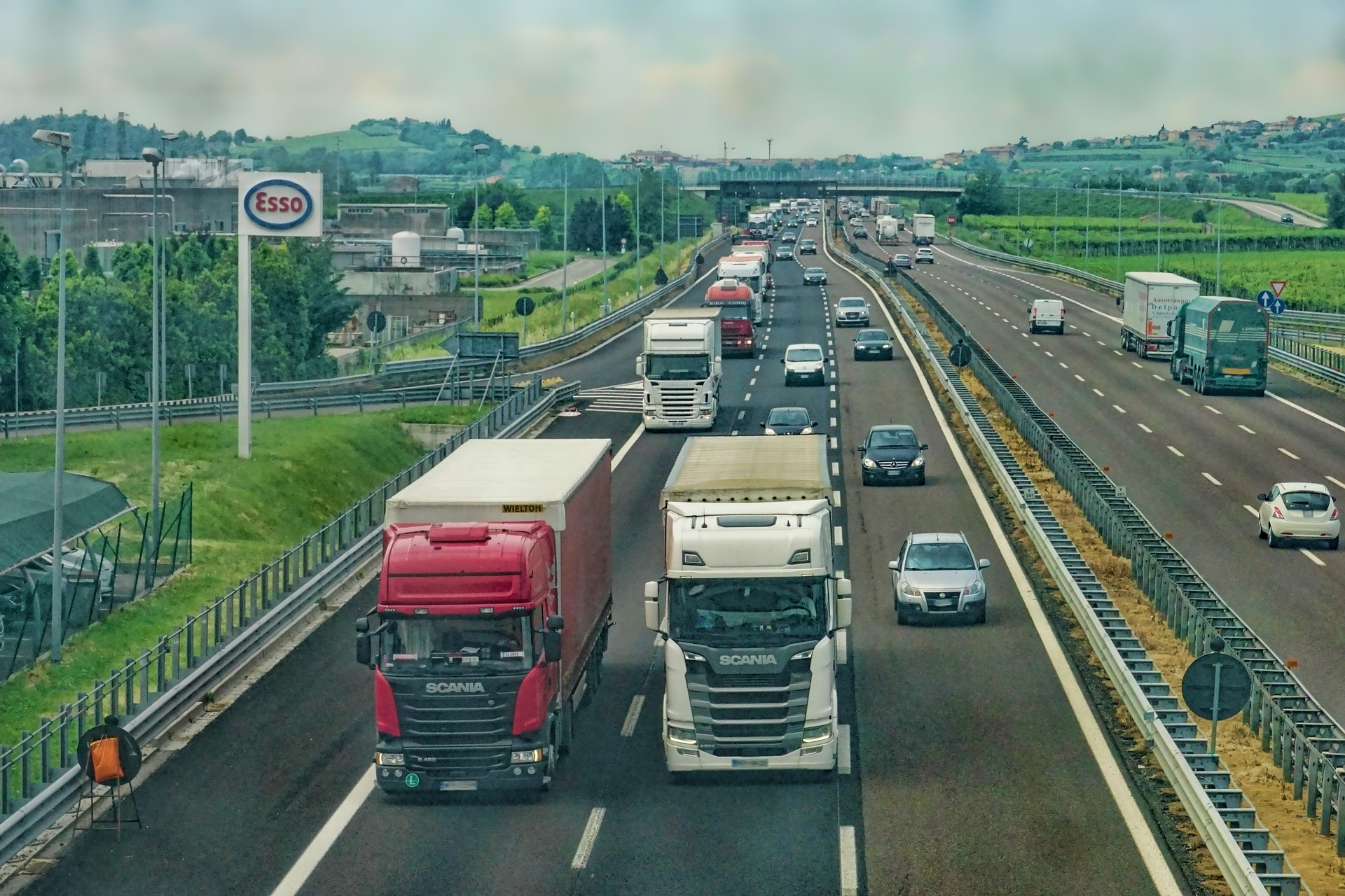 Busy Highway in Europe