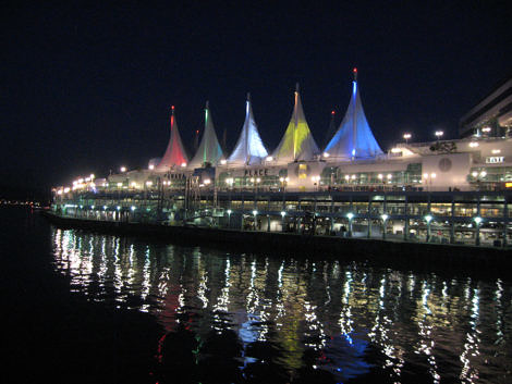 canada place at night