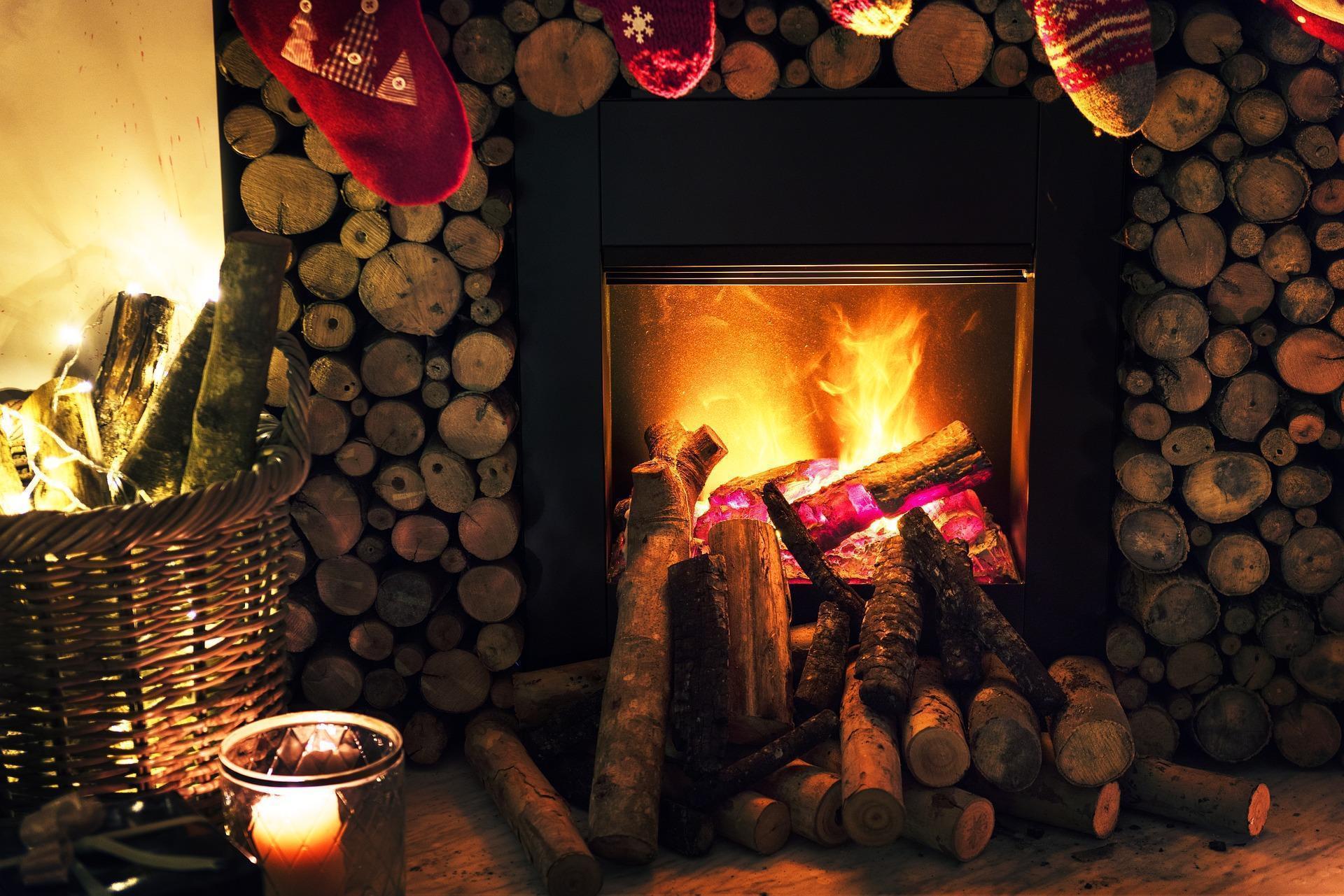 Cozy Christmas Hearth