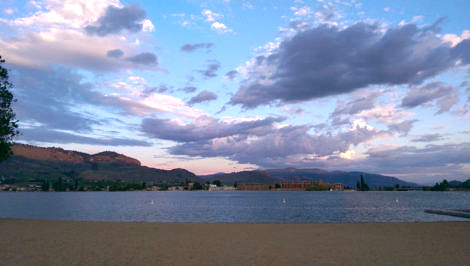 dramatic sky over osoyoos lake