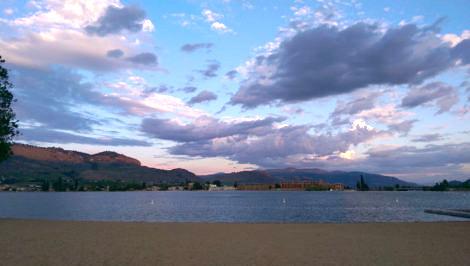 dramatic sky over osoyoos lake