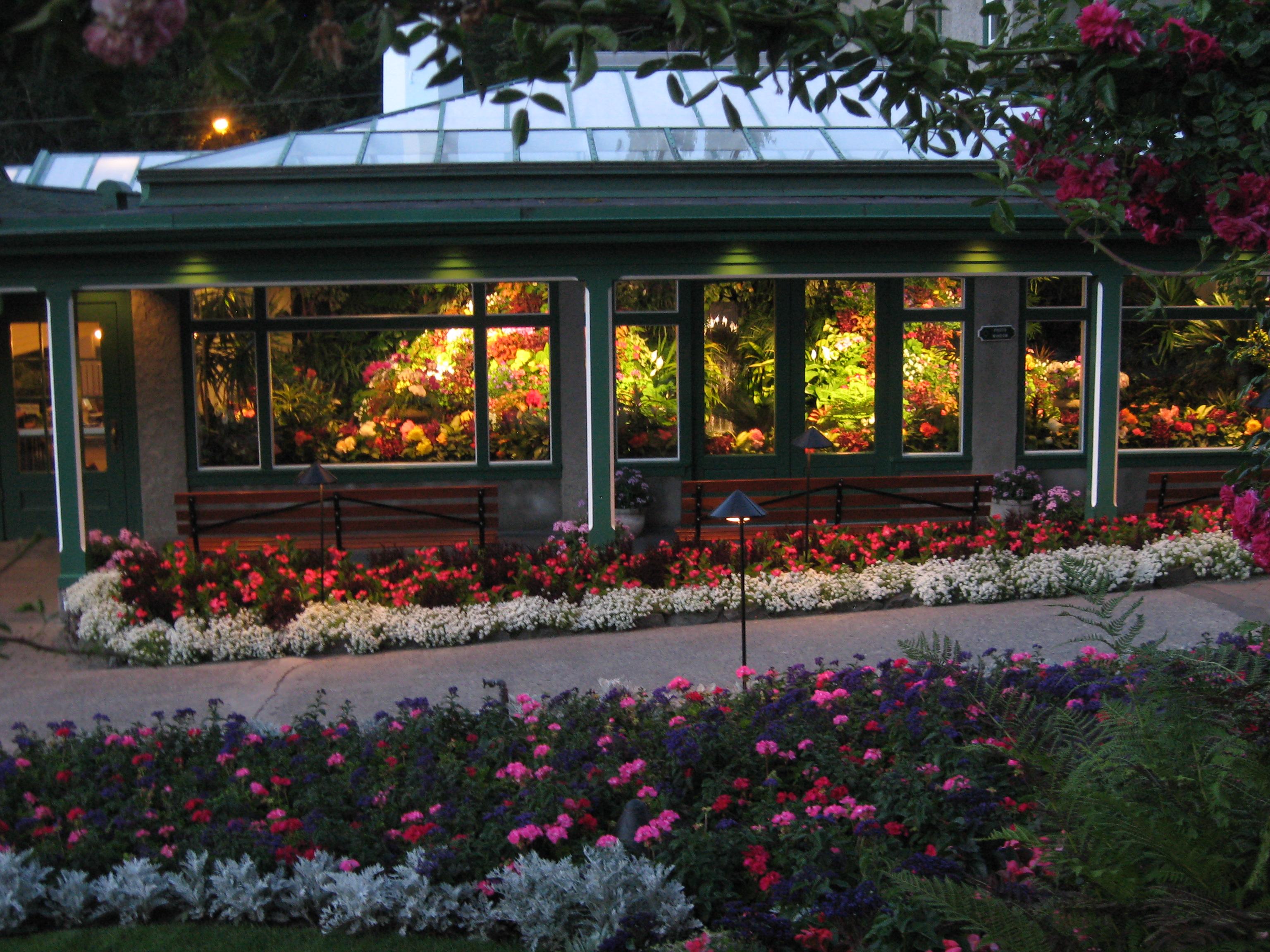 Flower Conservatory at Butchart Gardens