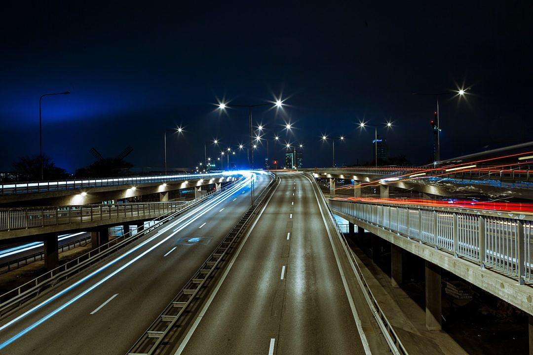 Interstate Highway at Night