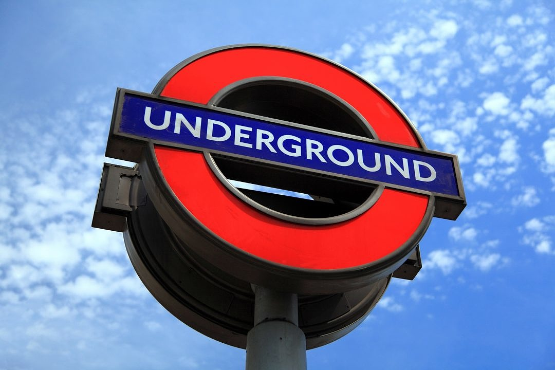 London Underground Sign against the Sky