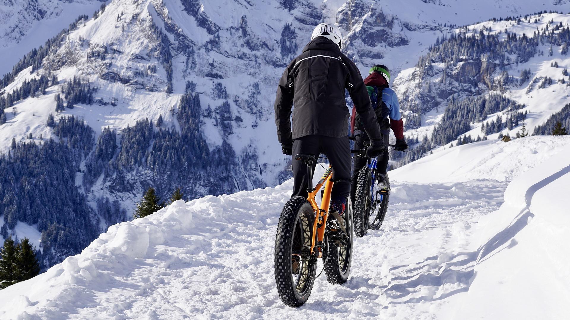 Mountain Biking in the Snow