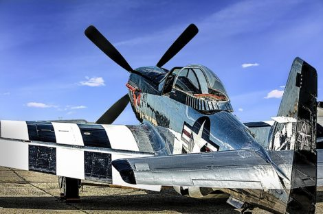 Polished Aluminum on a vintage P-51 Mustang