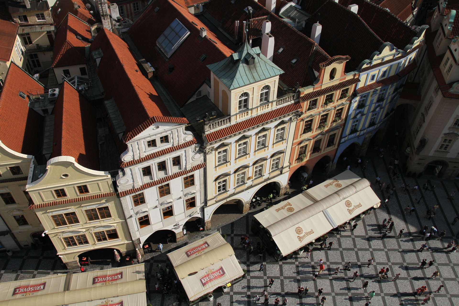 Prague Buildings viewed from Above