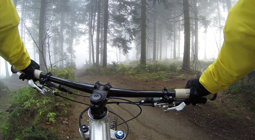 Riders Point of View Mountain Biking