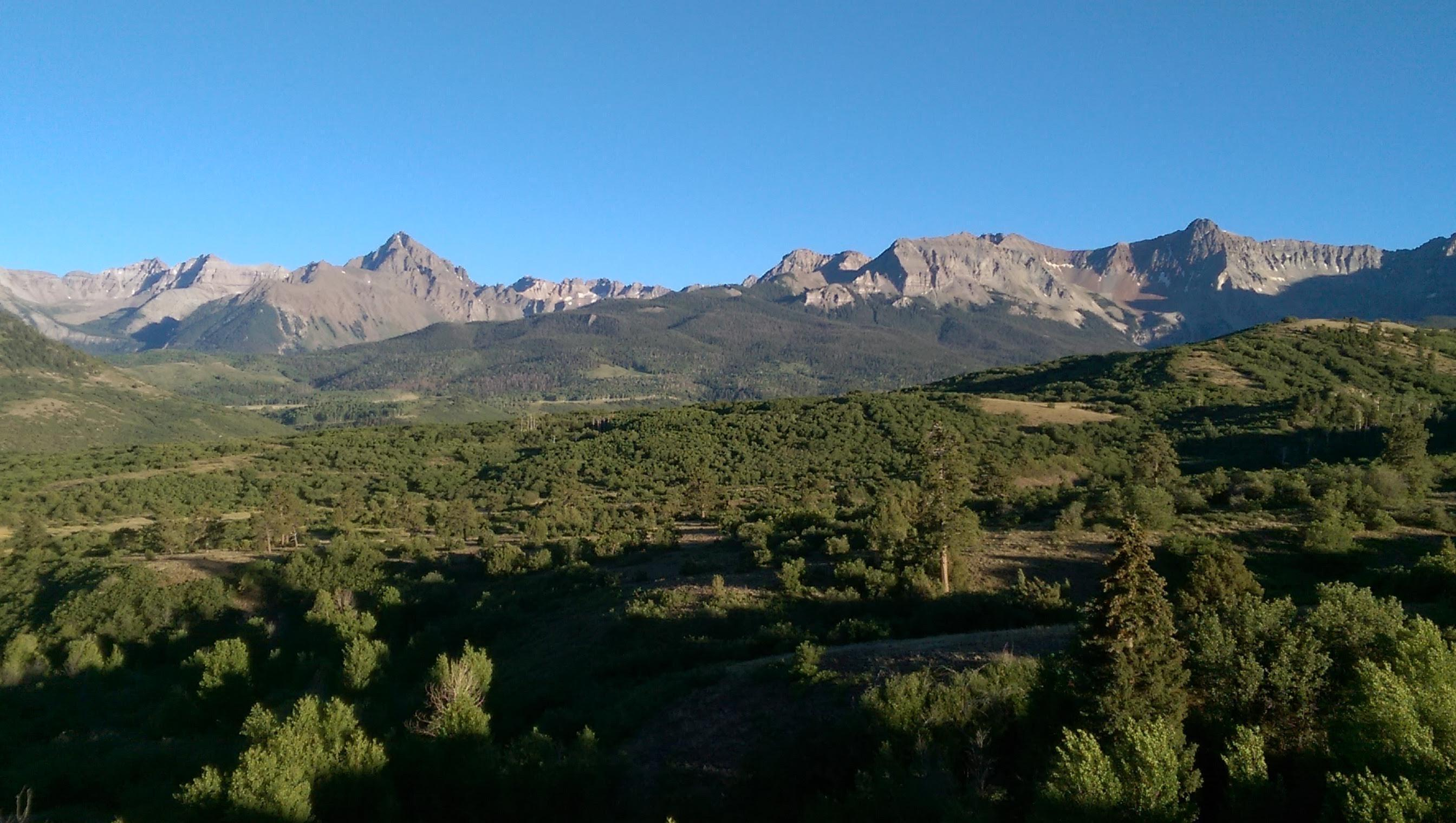 Rocky Mountains near Ridgeway Colorado