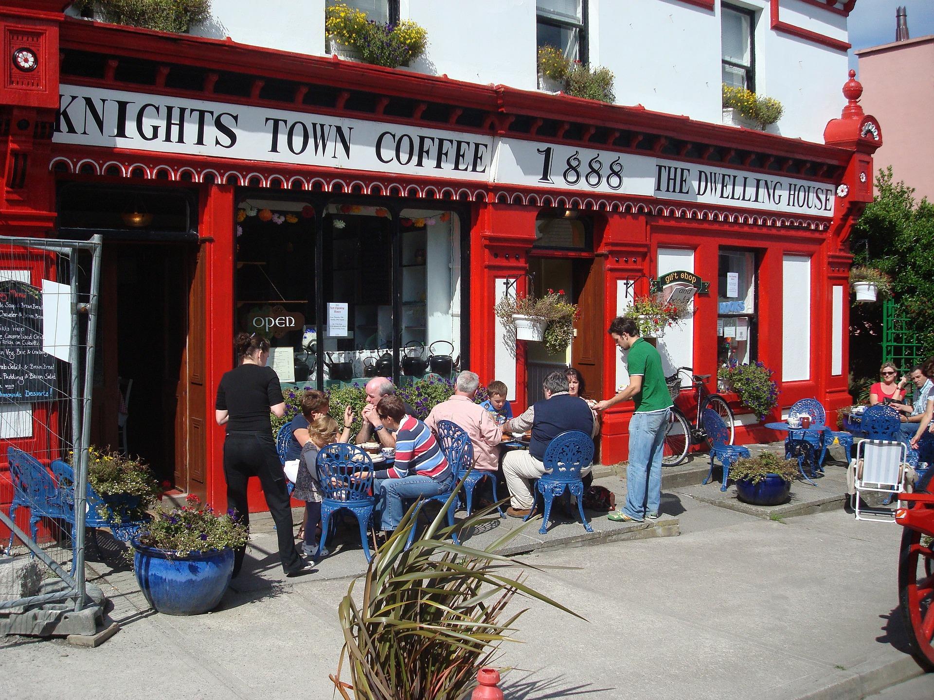 Sidewalk Cafe and Coffee Shop on Velentia Island