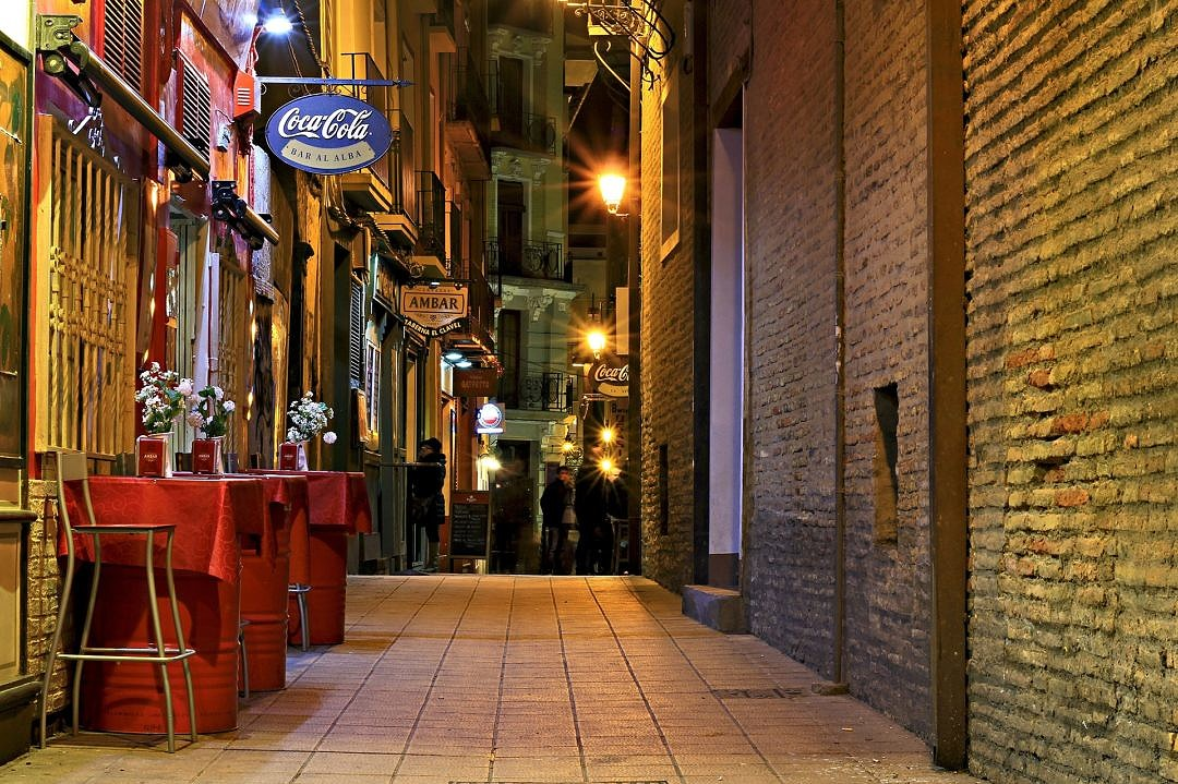 Spanish Bars and Cafes at Night