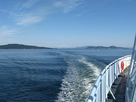 View of Mount Baker Washington from a BC Ferry