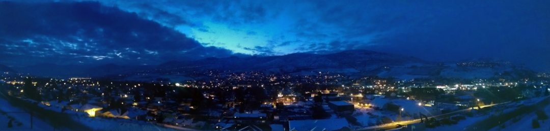 Winter Evening in Vernon BC